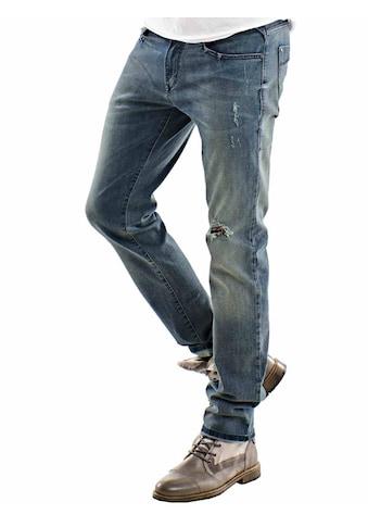 emilio adani Superstretch Jeans mit Destroy - Effekt kaufen