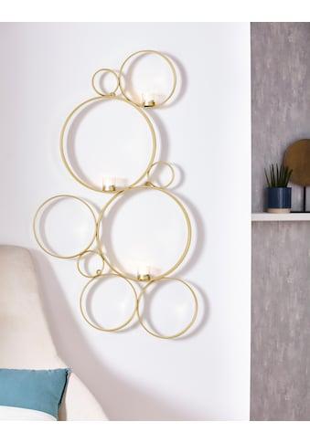 Leonique Wandkerzenhalter »Kreise«, Kerzen-Wandleuchter, Kerzenhalter, Kerzenleuchter... kaufen