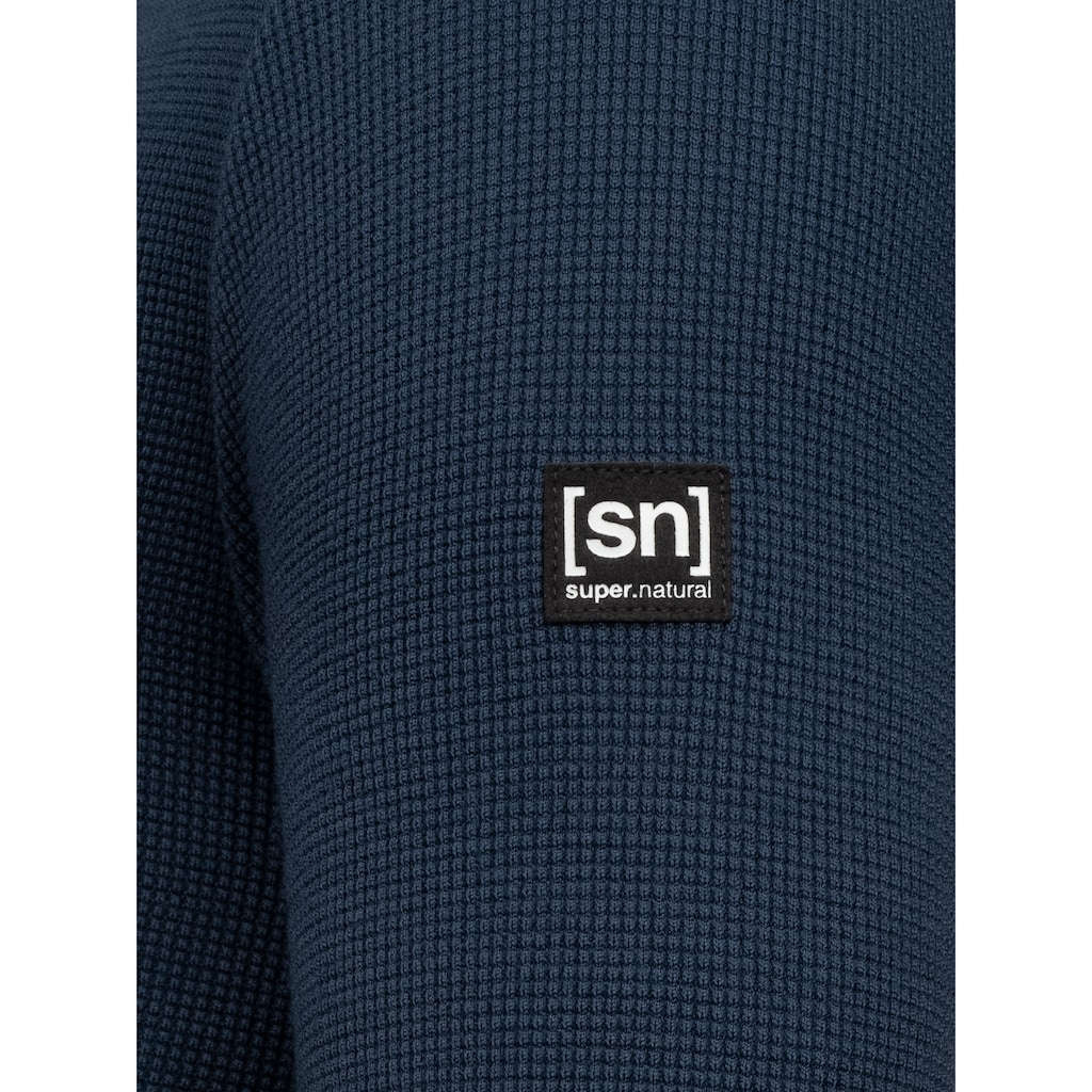 SUPER.NATURAL Sweatshirt »M JASPER CREW NECK«, feinster Merino-Materialmix