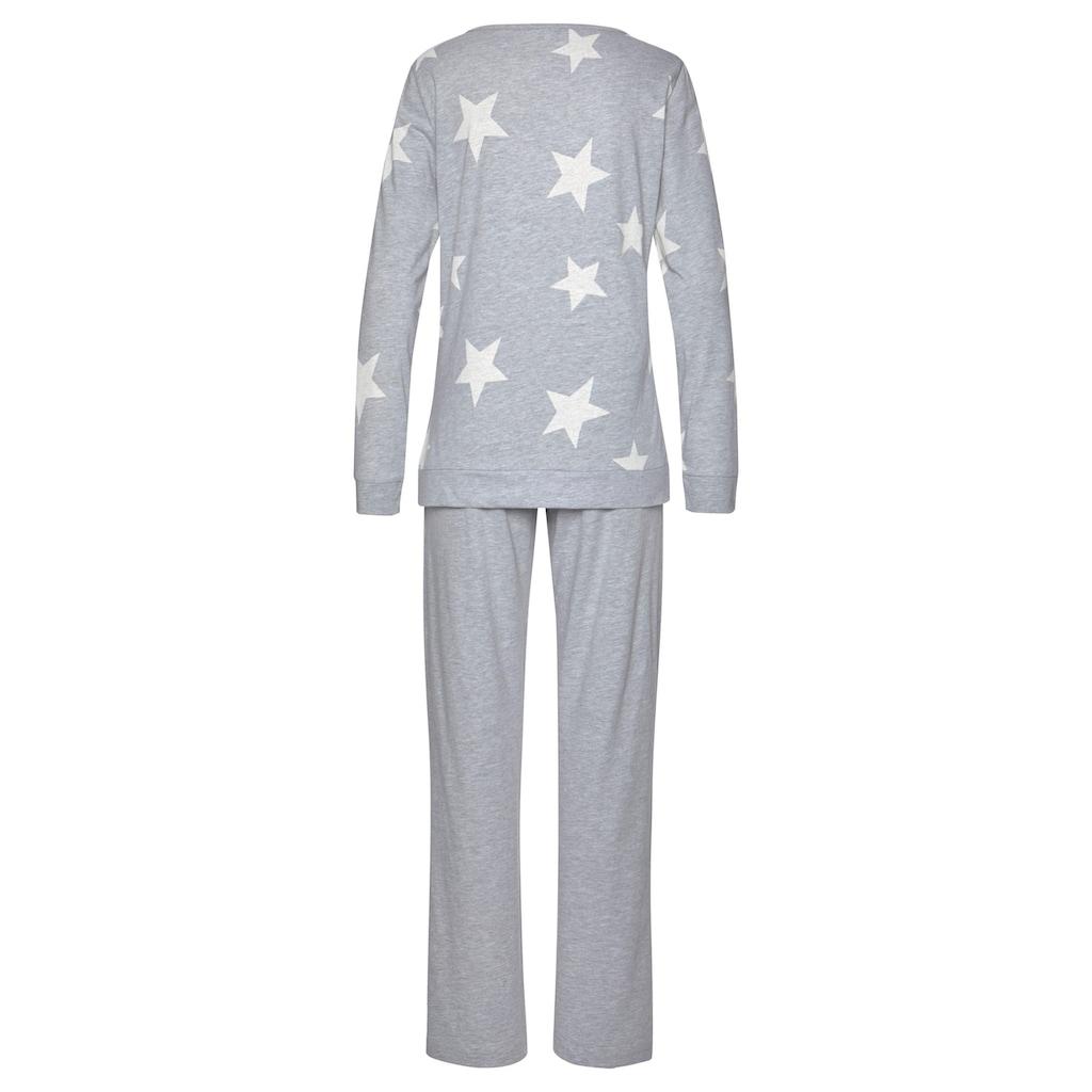 Arizona Pyjama, in melierter Optik mit Sternen