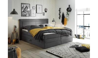 Boxspringbett »Saba«, (6 St.), inkl. zwei Bettkästen und Topper kaufen