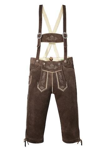 Country Line Trachtenlederhose, (2 tlg., mit Hosenträgern), 3/4 lang Herren mit... kaufen