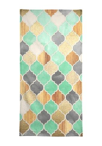 """Handtuch """"Textured Moroccan Pattern"""", Juniqe kaufen"""