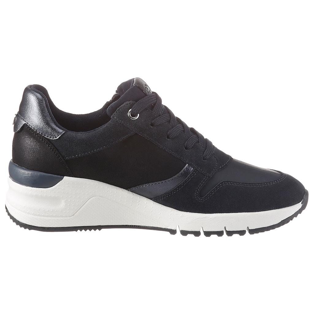 Tamaris Wedgesneaker »Rea«, im trendigen Materialmix