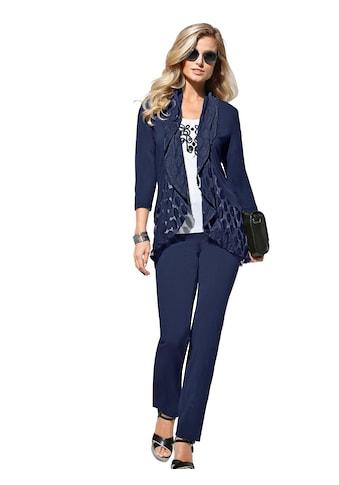 Lady Shirtjacke mit breiten, fliessend fallenden Tupfen - Volants kaufen