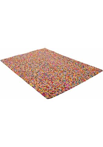 THEKO Wollteppich »Ballo«, rechteckig, 22 mm Höhe, Filzkugel-Teppich, reine Wolle,... kaufen
