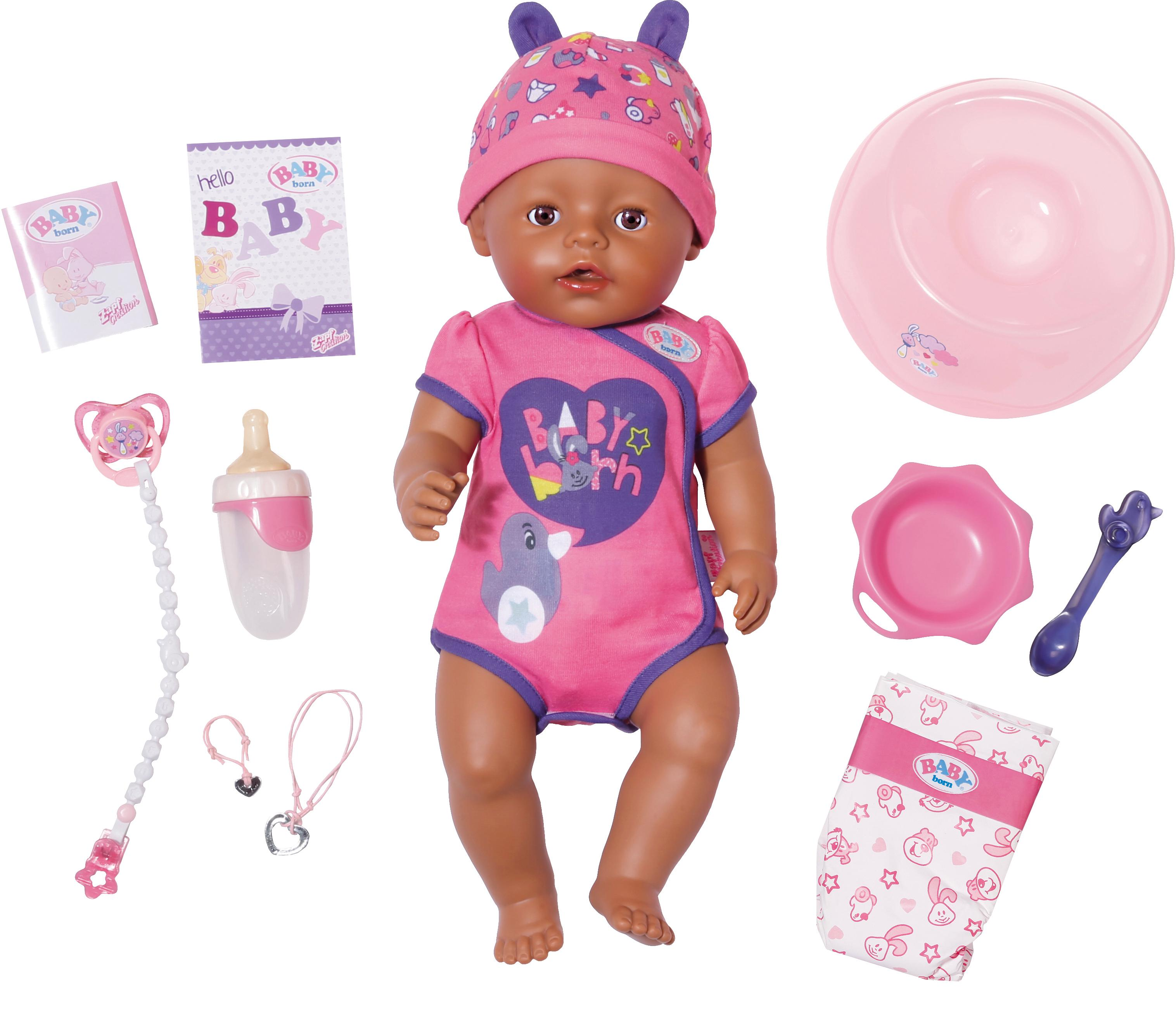 """Image of Baby Born Babypuppe """"BABY born® Soft Touch Girl Brown Eyes"""" (8-tlg.)"""