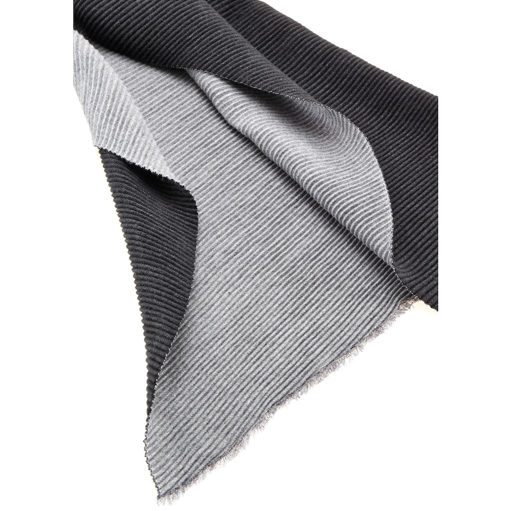 LASCANA Schal, XL-Modeschal zum Wenden aus softem, weichen Plissee-Material