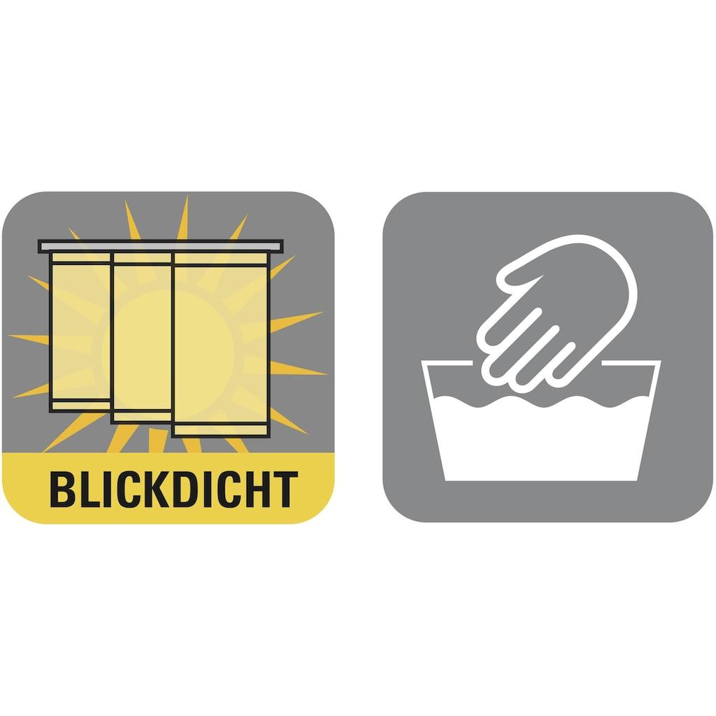 GARDINIA Schiebegardine »Flächenvorhang Stoff Uni mit weissen Paneelwagen«