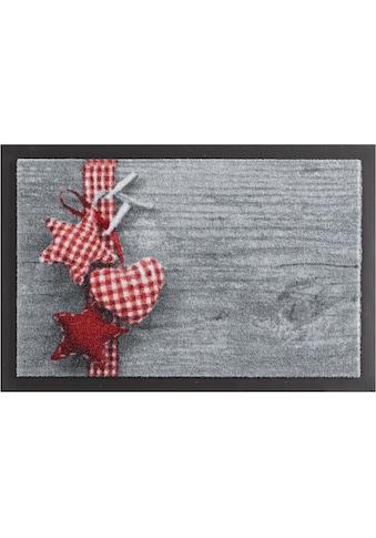 Fussmatte, »Stern mit Herz«, HANSE Home, rechteckig, Höhe 7 mm, gedruckt kaufen