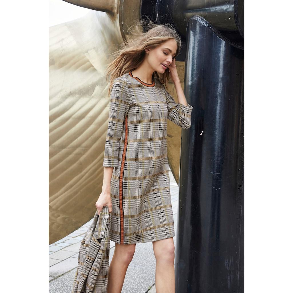 Aniston CASUAL Sweatkleid, mit gestreiften Bündchen und Galonstreifen