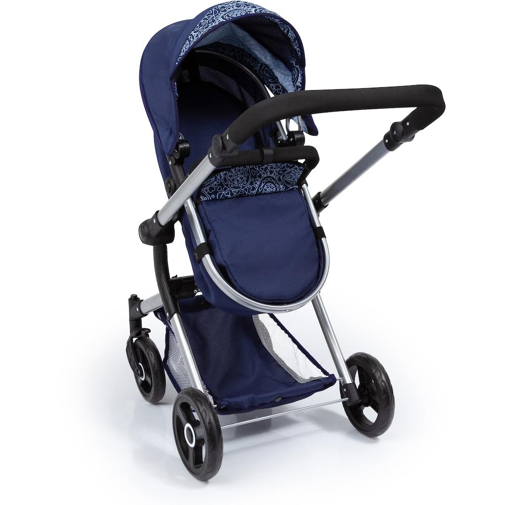 Bayer Kombi-Puppenwagen »Vario, Blau«, inkl. Wickeltasche