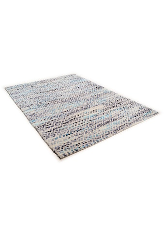 TOM TAILOR Wollteppich »Diamond«, rechteckig, 8 mm Höhe, reine Wolle, Flachgewebe,... kaufen