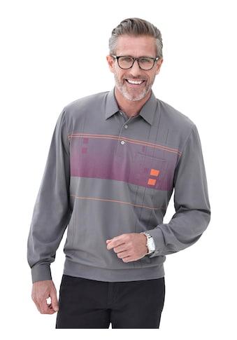 Hajo Langarm - Poloshirt mit grafischem Druck kaufen