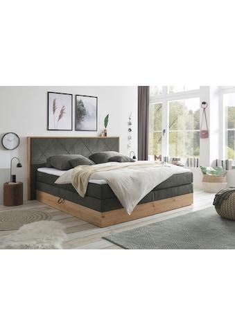 Boxspringbett »Bellevue«, (7 St.), mit 2 Bettkästen und Topper kaufen