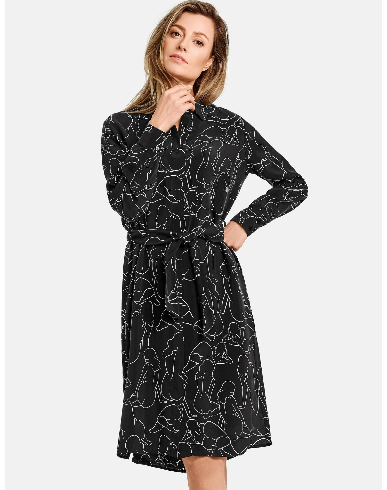 Image of GERRY WEBER Kleid Gewebe »Hemdblusenkleid mit Art-Print«