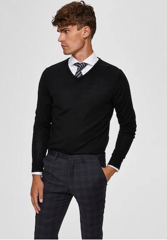 SELECTED HOMME V - Ausschnitt - Pullover »TOWER NEW MERINO V - NECK« kaufen