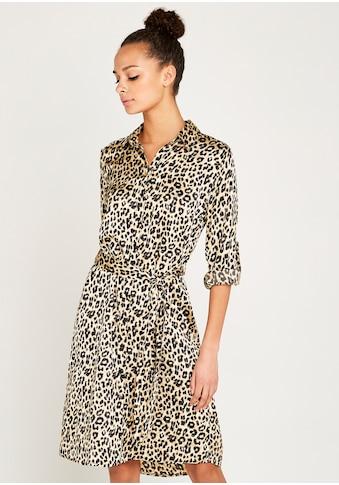 Apricot Hemdblusenkleid »Leopard Satin Crepe Shirt Dress«, (mit Bindegürtel), mit... kaufen