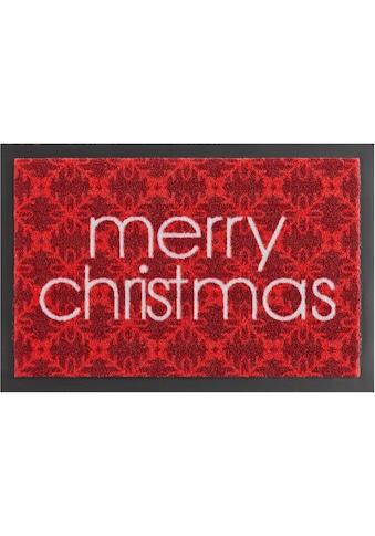 Fussmatte, »Merry Christmas«, HANSE Home, rechteckig, Höhe 7 mm, maschinell gewebt kaufen