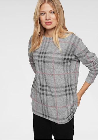 Aniston CASUAL Sweatshirt, im Karo-, Wellen- oder Zickzack- Dessin - welches ist dein... kaufen
