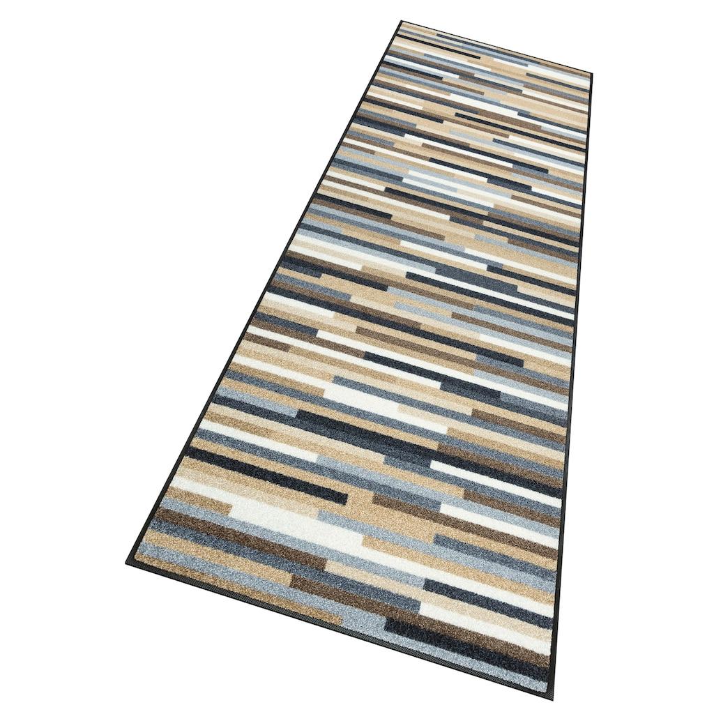 wash+dry by Kleen-Tex Läufer »Mikado Stripes«, rechteckig, 7 mm Höhe, In- und Outdoor geeignet, waschbar