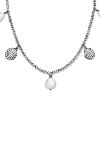 ROSEFIELD Kette mit Anhänger »Multi shell and pearl charms necklace silver, JMSPNS - J162« kaufen