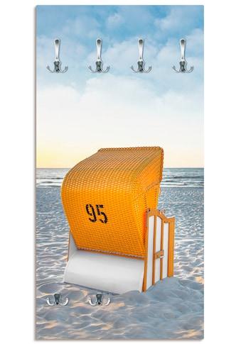 Artland Garderobe »Ostsee7 - Strandkorb«, platzsparende Wandgarderobe aus Holz mit 6... kaufen