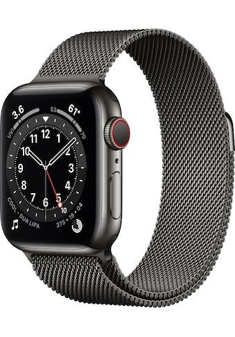 Apple Smartwatch »Watch Series 6 GPS + Cellular, Edelstahlgehäuse, 40 mm mit Milanaise... kaufen