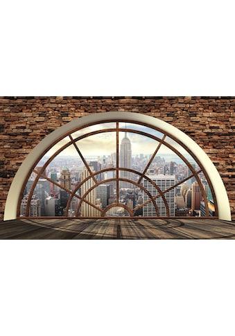 CONSALNET Vliestapete »New York Fensterblick«, verschiedene Motivgrössen, für das Büro oder Wohnzimmer kaufen
