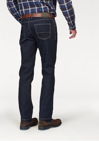 bugatti Regular-fit-Jeans, Regular-fit, 2farbige Kontrastnähte kaufen