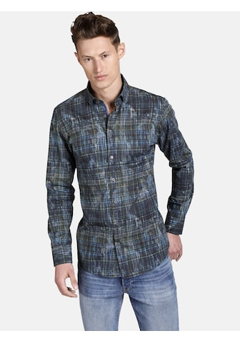 SHIRTMASTER Langarmhemd »artistatwork«, in trendigem All Over Print kaufen