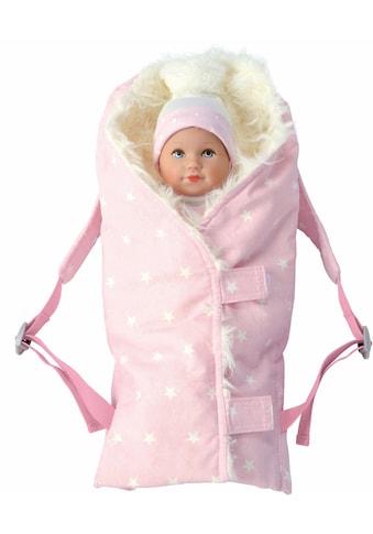 Käthe Kruse Puppen Wickeltasche »Puppentrage Fell rosa« kaufen