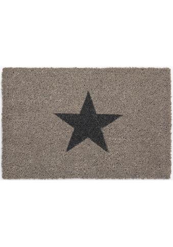 Andiamo Fussmatte »Kokos Star«, rechteckig, 15 mm Höhe, Fussabstreifer, Fussabtreter, Schmutzfangläufer, Schmutzfangmatte, Schmutzfangteppich, Schmutzmatte, Türmatte, Türvorleger, In- und Outdoor geeignet kaufen
