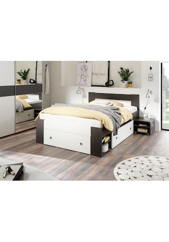 Schlafkontor Bett »Linz«, mit ausziebaren Nachttischen und Schubkästen kaufen