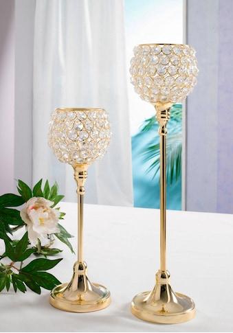 Home affaire Teelichthalter »Kristall« (Set, 2 Stück) kaufen