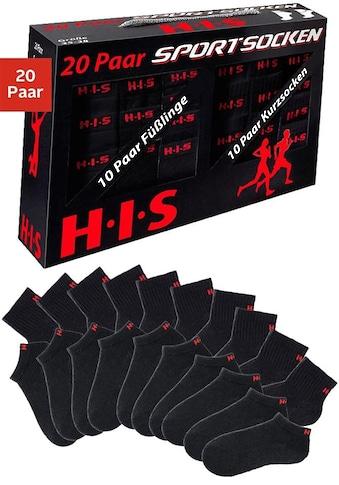 H.I.S Kurzsocken (Box, 20 Paar) kaufen