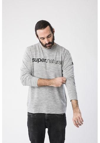 SUPER.NATURAL Sweatshirt »M SIGNATURE CREW«, pflegeleichter Merino-Materialmix kaufen