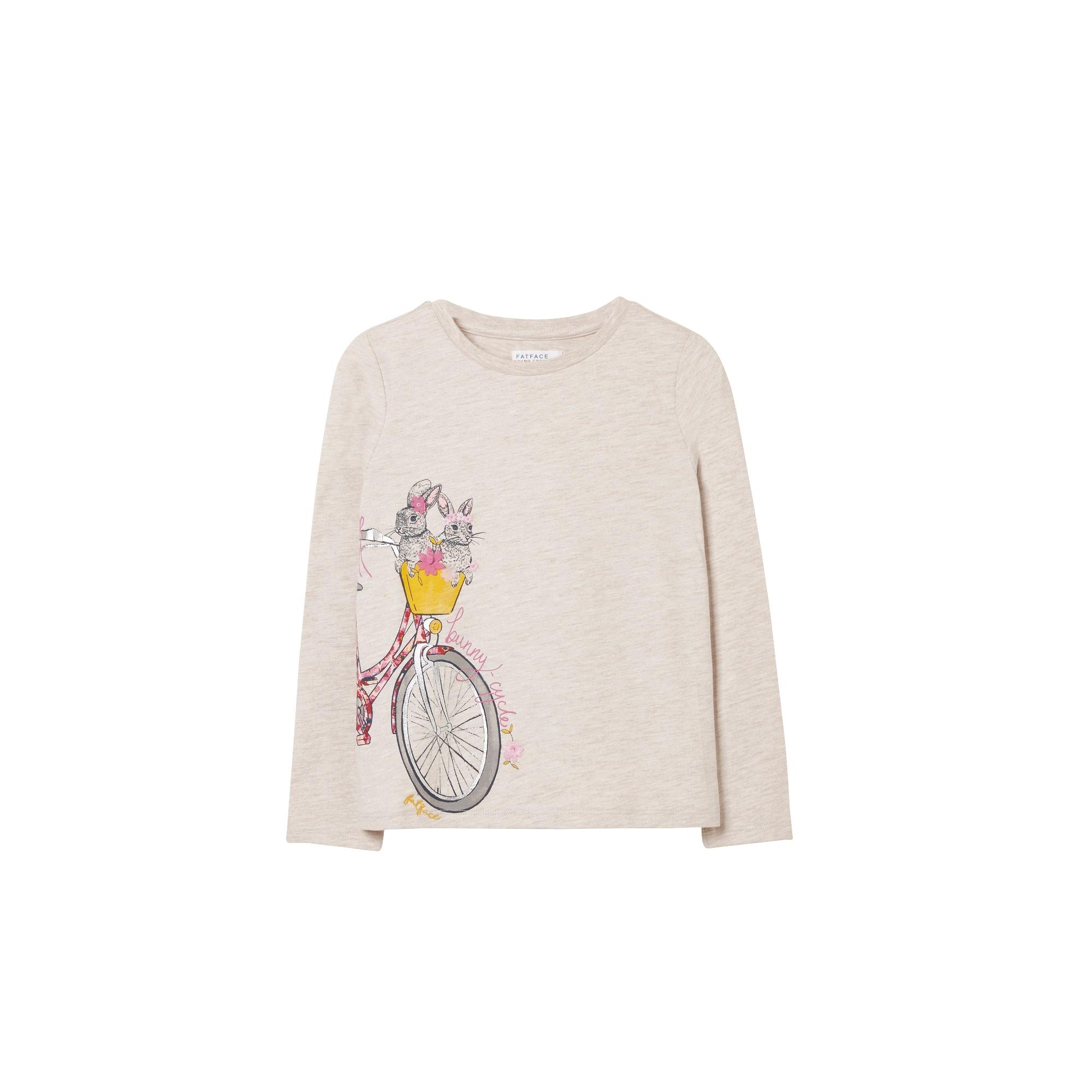 Image of FatFace Langarmshirt »Kinder mit Häschen- und Fahrrad-Motiv Bunny Cycle«