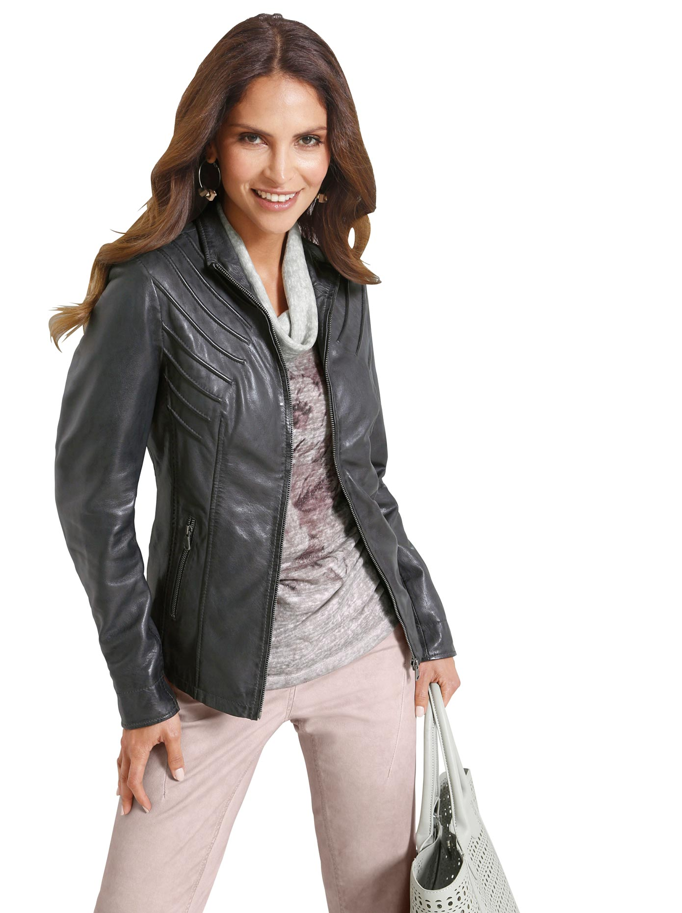 Image of Classic Inspirationen Leder-Jacke aus weichem Lamm-Nappa