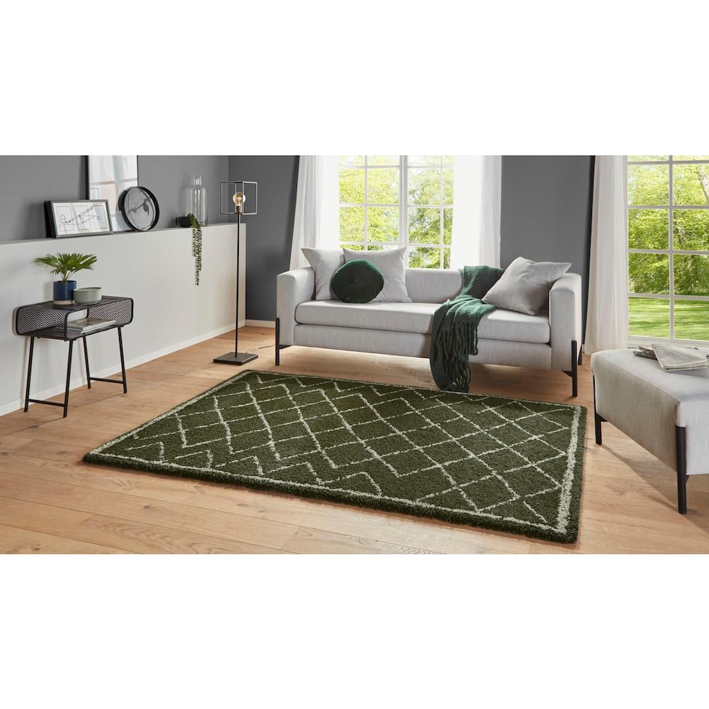 MINT RUGS Hochflor-Teppich »Loft«, rechteckig, 35 mm Höhe, Wohnzimmer