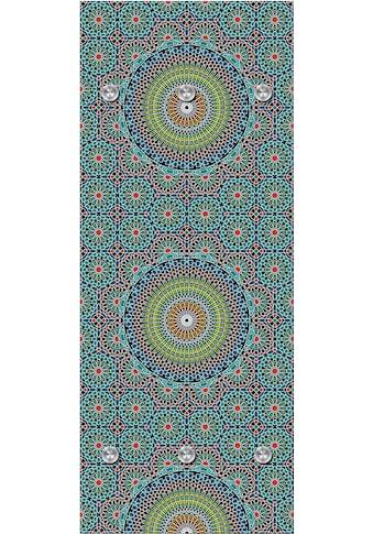 queence Garderobenpaneel »Blumen«, mit 6 Haken, 50 x 120 cm kaufen
