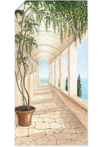 Artland Wandbild »Capri«, Gebäude, (1 St.), in vielen Grössen & Produktarten - Alubild / Outdoorbild für den Aussenbereich, Leinwandbild, Poster, Wandaufkleber / Wandtattoo auch für Badezimmer geeignet kaufen