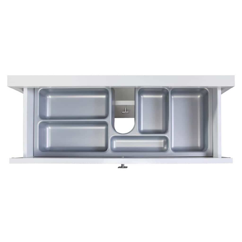 Schildmeyer Waschbeckenunterschrank »Bozen«, Breite 65 cm, mit 2 Schubladen & Metallgriffen
