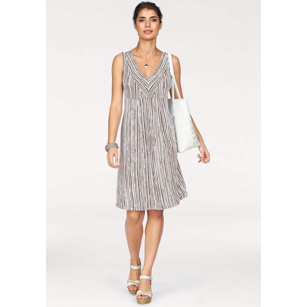 Boysen's Jerseykleid, im figurschmeichendem Streifen-Design