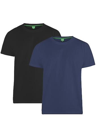 Duke Clothing T-Shirt »Herren Fenton D555, Rundhalsausschnitt, 2er-Packung« kaufen