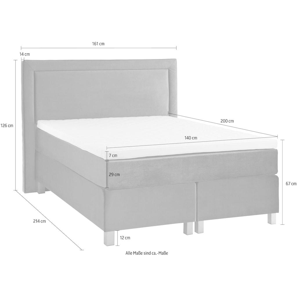 Guido Maria Kretschmer Home&Living Boxspringbett, mit Komfortschaum-Topper