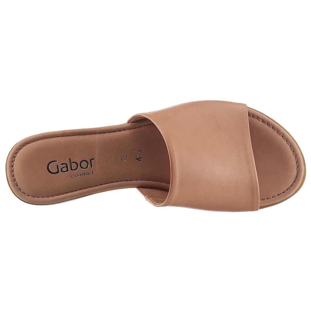Gabor Pantolette »RHODOS«, in zeitlosem Design