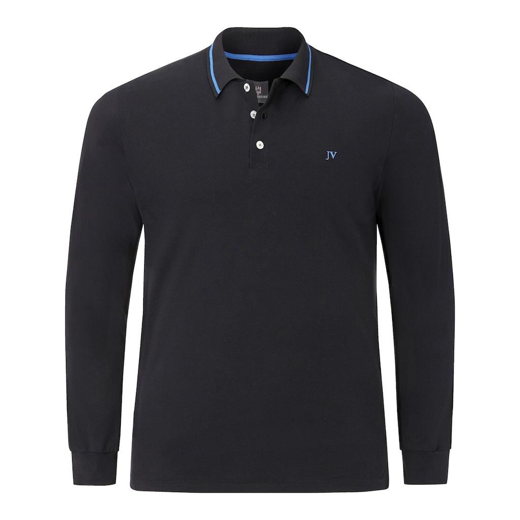 Jan Vanderstorm Langarm-Poloshirt »ELLIS«, hochwertige Pikee-Qualität