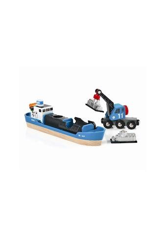 BRIO® Spielzeugeisenbahn-Erweiterung »BRIO® WORLD Containerschiff mit Kranwagen« kaufen