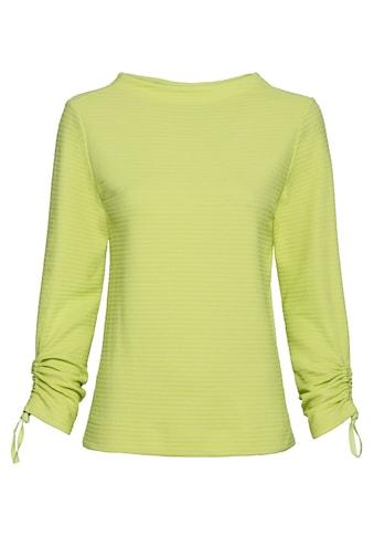 bianca Rundhalsshirt »KYLIN«, mit Raffungen an den Ärmeln kaufen
